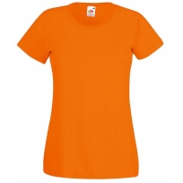 Lady-Fit Crew Neck Tee Orange M